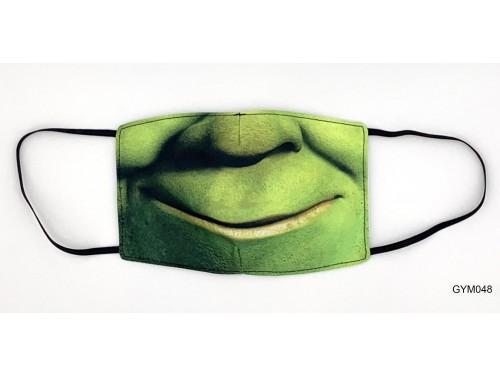 (GYM048) Szájmaszk – Zöld száj mintás gyerek szájmaszk