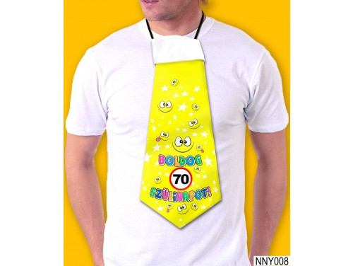 (NNY008) Óriás Nyakkendő – 70. Szülinapi nyakkendő – Vicces nyakkendő