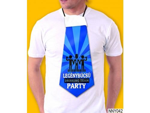 (NNY042) Óriás Nyakkendő – Legénybúcsú party – Vicces Legénybúcsú Nyakkendő