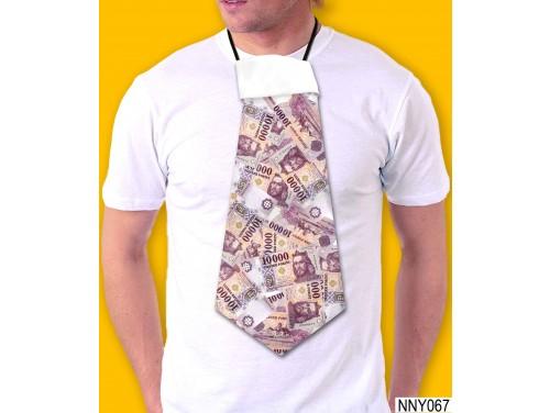 (NNY067) Óriás Nyakkendő – 10000 Forint mintás nyakkendő – Vicces Ajándékok