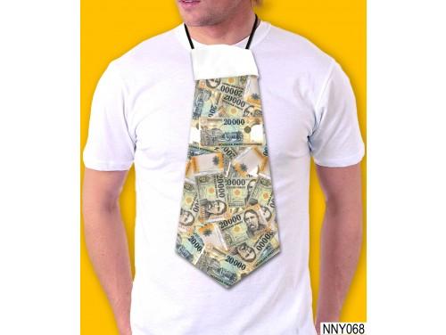 (NNY068) Óriás Nyakkendő – 20000 Forint mintás nyakkendő – Vicces Ajándékok