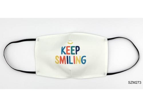 (SZM273) Szájmaszk - Keep smile mintás szájmaszk