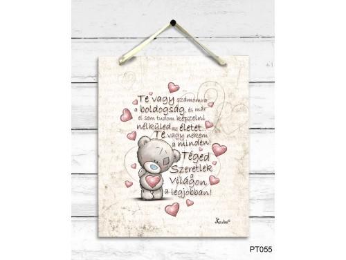 (PT055) Dekor Falikép - Te vagy számomra - Valentin napi ajándék