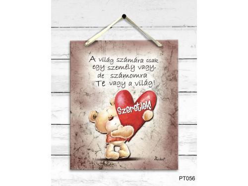 (PT056) Dekor Falikép - A világ számára - Valentin napi ajándék