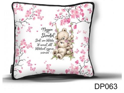 (DP063) Díszpárna 26 cm x 26 cm - Senki sem tökéletes - Valentin Napi Ajándékok - Évfordulós Ajándékok