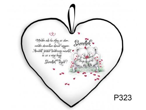 (P323) Párna Kis Szív 25cm - Minden este - Valentin Napi Ajándékok - Évfordulós Ajándékok