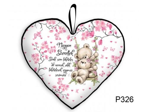 (P326) Párna Kis Szív 25cm - Senki sem tökéletes - Valentin Napi Ajándékok - Évfordulós Ajándékok