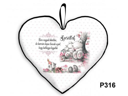 (P316) Párna Nagy Szív 45cm - Nem vagyok tökéletes macis - Valentin Napi Ajándékok - Évfordulós Ajándékok
