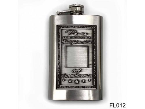 (FL012) Óncímkés flaska laposüveg - Nyugdíjas búcsúztatóra  - Írható - Nyugdíjas ajándék