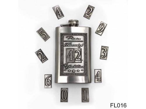 (FL016) Óncímkés flaska laposüveg - Választható számos Házasság Évfordulóra  - Évfordulós ajándék