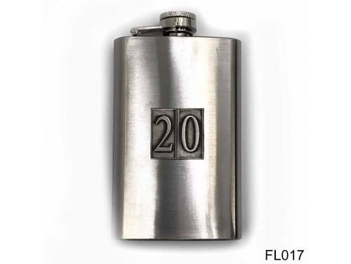 (FL017) Óncímkés flaska laposüveg - 20-as számozású  - Szülinapi Ajándék