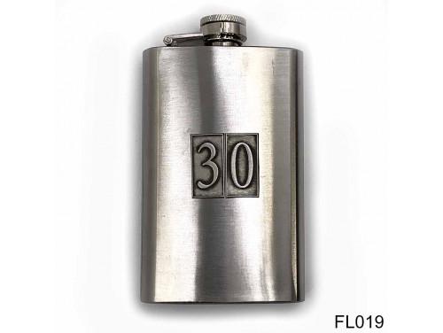 (FL019) Óncímkés flaska laposüveg - 30-as számozású  - Szülinapi Ajándék