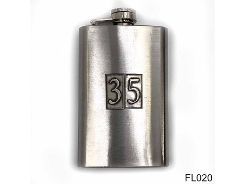 (FL020) Óncímkés flaska laposüveg - 35-ös számozású  - Szülinapi Ajándék