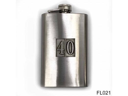 (FL021) Óncímkés flaska laposüveg - 40-es számozású  - Szülinapi Ajándék