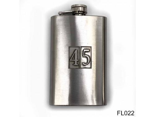 (FL022) Óncímkés flaska laposüveg - 45-ös számozású  - Szülinapi Ajándék