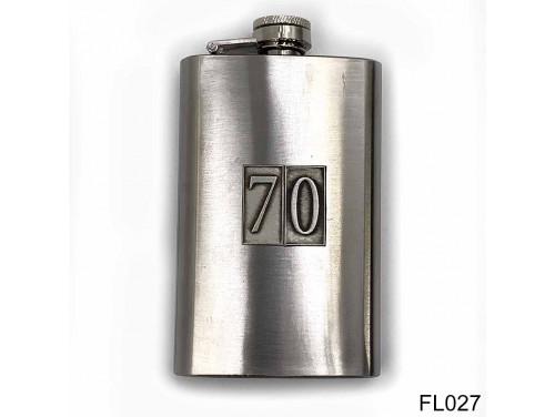 (FL027) Óncímkés flaska laposüveg - 70-es számozású  - Szülinapi Ajándék