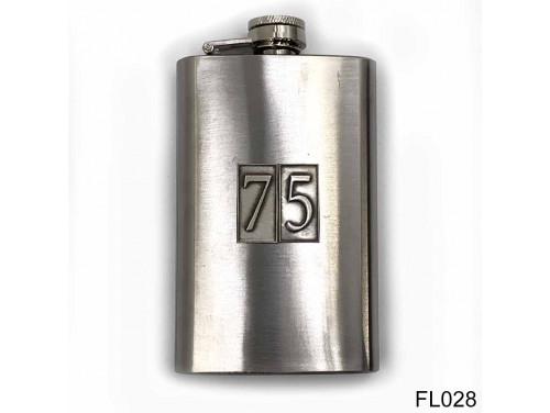 (FL028) Óncímkés flaska laposüveg - 75-ös számozású  - Szülinapi Ajándék