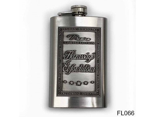 (FL066) Óncímkés flaska laposüveg - Házassági Évfordulóra  - Évfordulós Ajándék