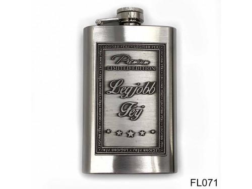 (FL071) Óncímkés flaska laposüveg - Legjobb Férj  - Ajándék Férjnek