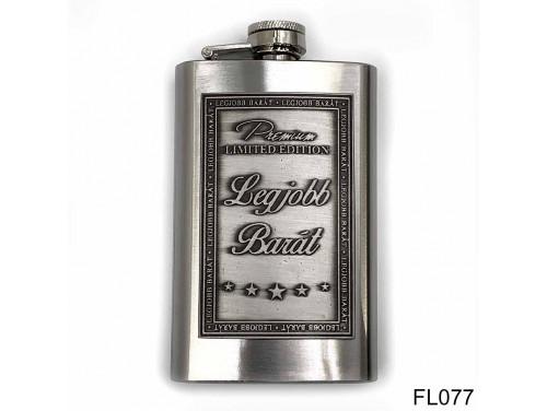 (FL077) Óncímkés flaska laposüveg - Legjobb Barát  - Ajándék Barátnak