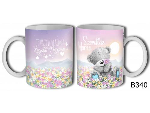 (B940) Bögre - Maci Virágmező Mama - Anyák Napi Ajándék