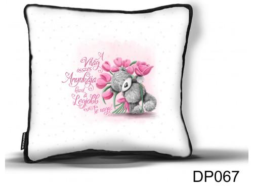 (DP067) Díszpárna - Maci Tulipán Anya - Ajándék Anyáknak