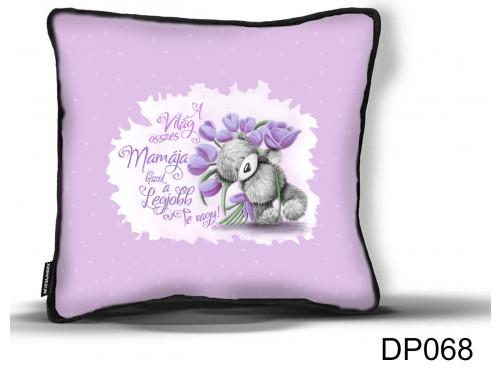 (DP068) Díszpárna - Maci Tulipán Mama - Ajándék Nagymamáknak