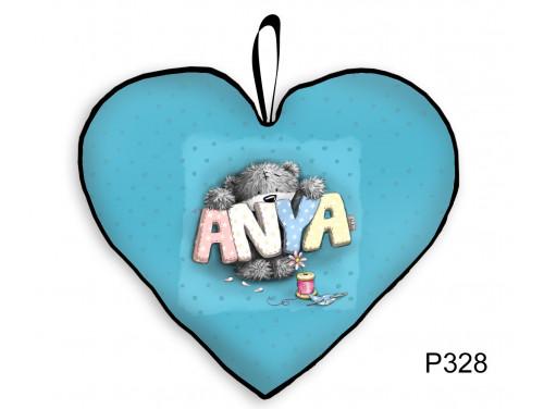 (P328) Nagy Szív Párna  45 cm x 36 cm - Anya Maci – Ajándék Anyáknak - Anyák Napi Ajándékok