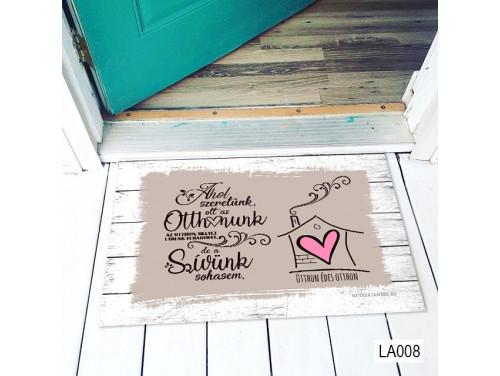 (LA008) Lábtörlő - Ahol szeretünk Lábtörlő -  Családi  Ajándék