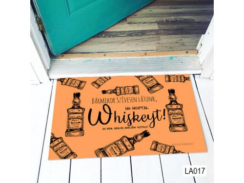 (LA017) Lábtörlő - Bármikor whiskey Lábtörlő -  Vicces  Ajándék