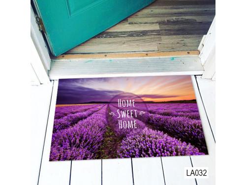 (LA032) Lábtörlő - Home Sweet home Lábtörlő - Levendulás Ajándék