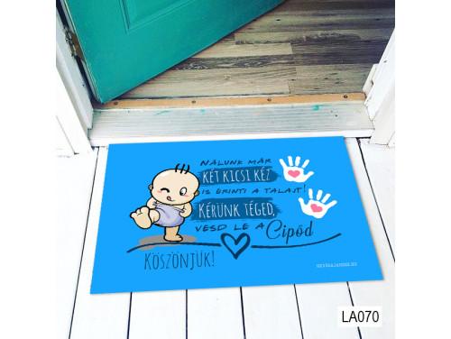 (LA070) Lábtörlő - Két kicsi kéz - Babalátogató Ajándék