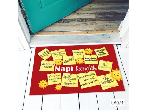 (LA071) Lábtörlő - Napi Teendők - Motivációs Ajándék