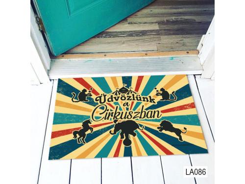 (LA086) Lábtörlő - Üdvözlünk a Cirkuszban - Vicces Lábtörlő