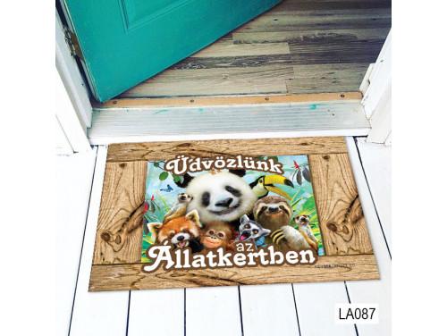 (LA087) Lábtörlő - Üdvözlünk az Állatkertben - Vicces Lábtörlő