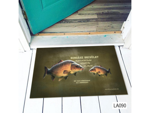 (LA090) Lábtörlő - Horgász Becsület - Horgász ajándék