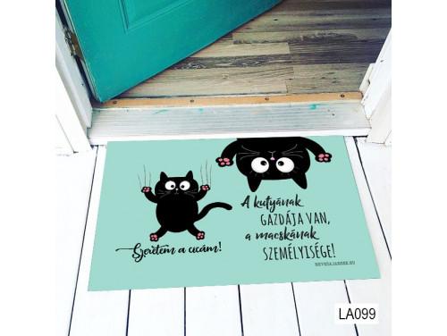 (LA099) Lábtörlő - Szeretem a cicám lábtörlő - Cicás Ajándék