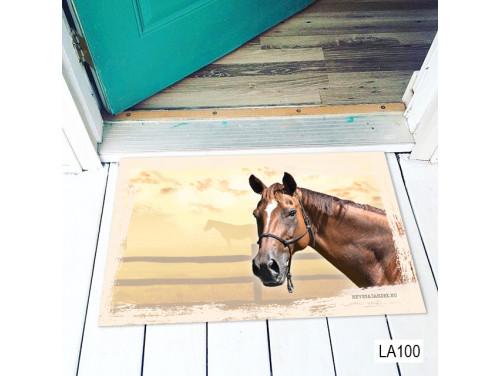 (LA100) Lábtörlő - Ló fej - Lovas Ajándék, Lábtörlő