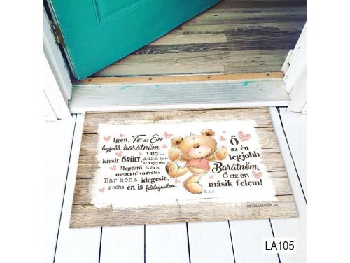 (LA105) Lábtörlő - Legjobb Barátnőm - Ajándék Barátnőnek