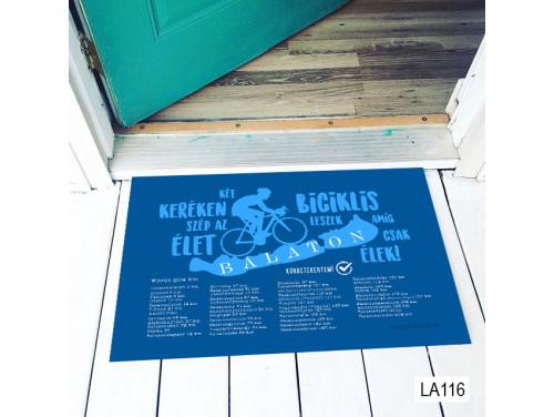 (LA116) Lábtörlő - Két keréken Balaton körút - Balatonos Lábtörlő, Ajándék