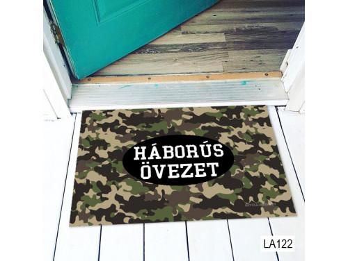 (LA122) Lábtörlő - Háborús övezet lábtörlő - Ajándék gyerekeknek