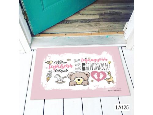 (LA125) Lábtörlő - Néha a legkisebb dolgok lányos - Ajándék Babalátogatóba, kislánynak