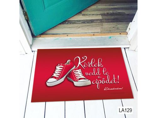(LA129) Lábtörlő - Kérlek vedd le a cipődet - Vicces Lábtörlő, Ajándék