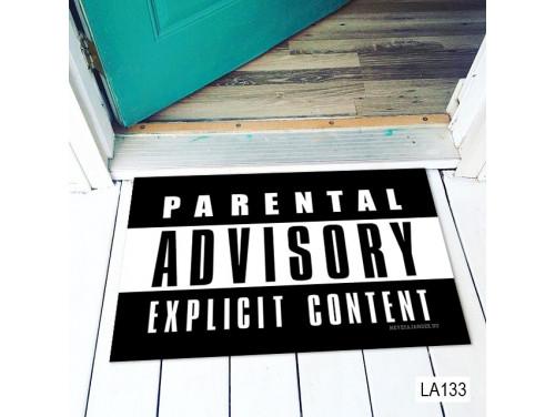 (LA133) Lábtörlő - Parental Advisory Explicit Content - Vicces Lábtörlő, Ajándék