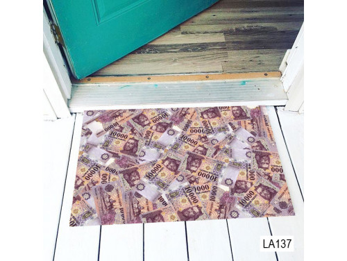 (LA137) Lábtörlő - Tízezres mintás lábtörlő - Vicces Lábtörlő, Ajándék