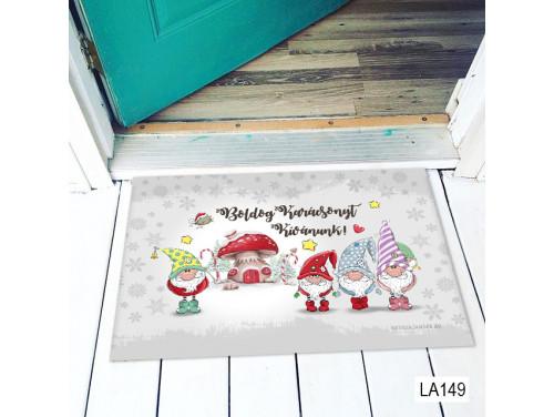 (LA149) Lábtörlő - Boldog Karácsonyt Gnome - Karácsonyi Lábtörlő, Ajándék