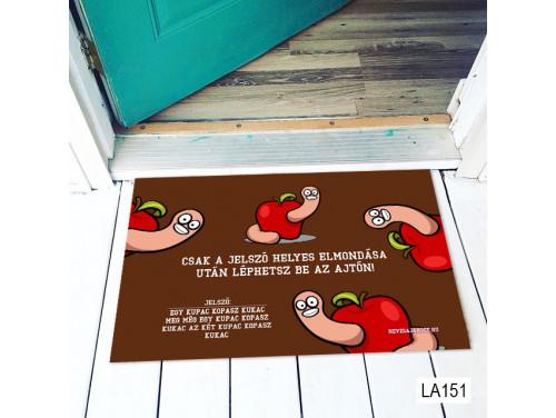 (LA151) Lábtörlő - Kopasz kukac - Vicces Lábtörlő, Ajándék